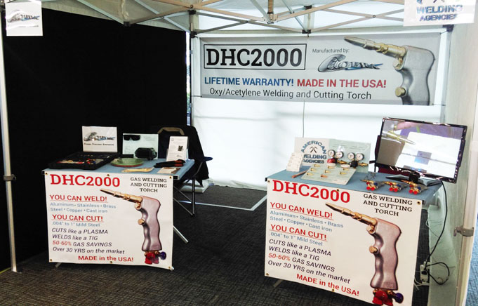 DHC2000 trade show gas welding torches