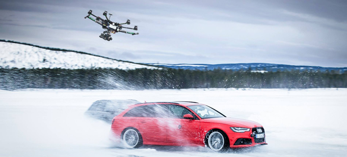 Drone Filming Car Ad