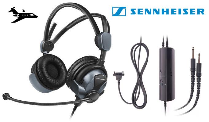 Sennheiser HMEC 26-2 Pilot Headset For Sale Cheap