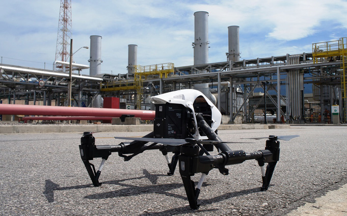drone quadcopter industrial inspection asset
