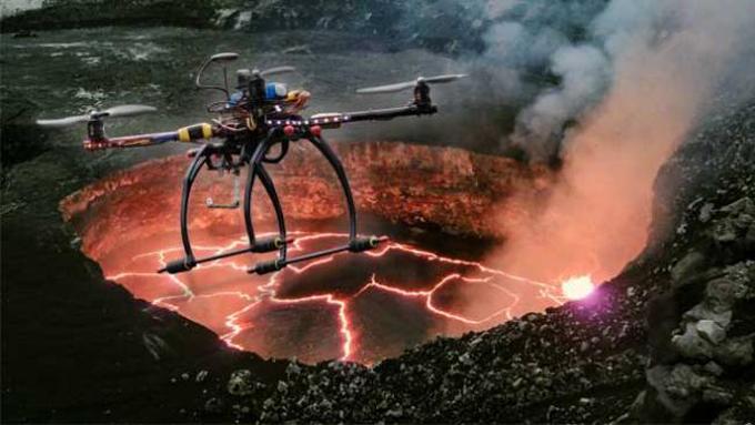 Lava lake drone