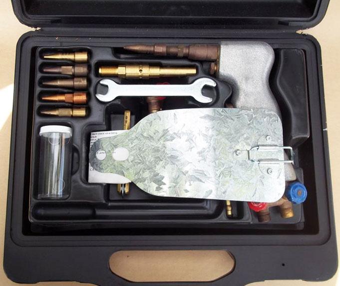 oxygen mapp gas brazing welding cutting torch kit