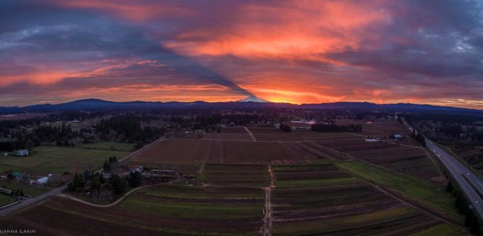 Rhianna Lakin Volcano Sunset