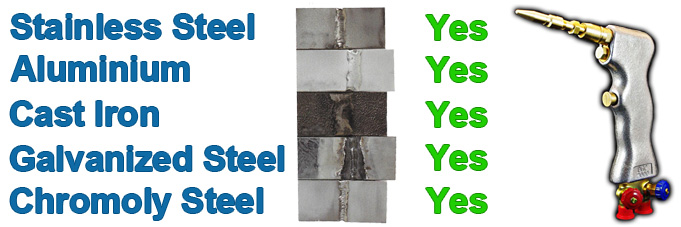 gas weld different steels aluminum