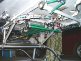 <h5>Aerokopter helicopter under cabin flight controls</h5>