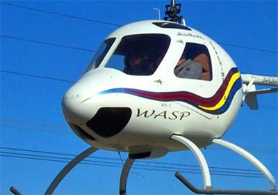 Experimental two seat WASP turbine helicopter