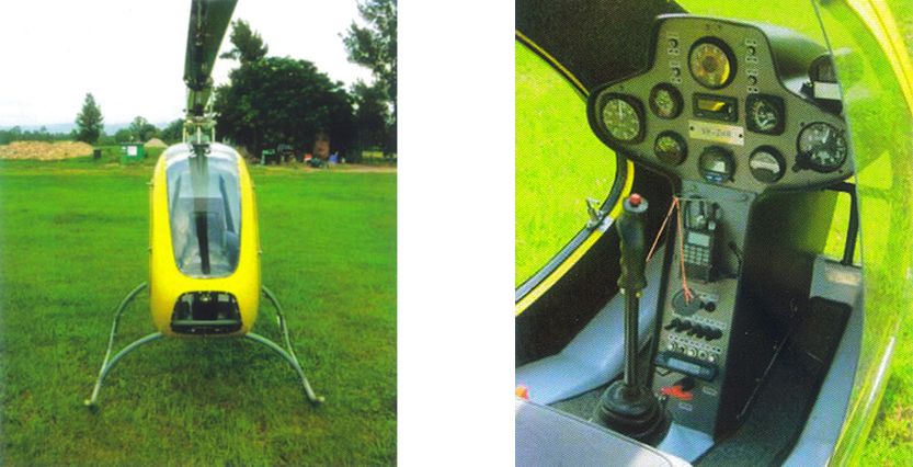 Helicycle helicopter detail