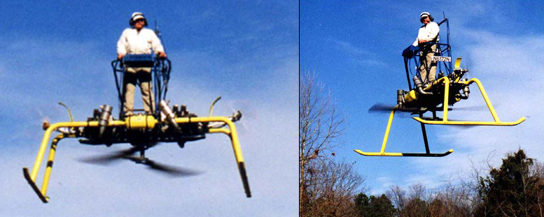 Individual lifting vehicle drone helicopter platform