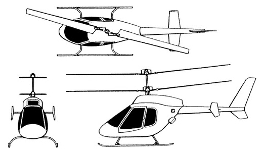 RI-30 Eaglet Coaxial Helicopter
