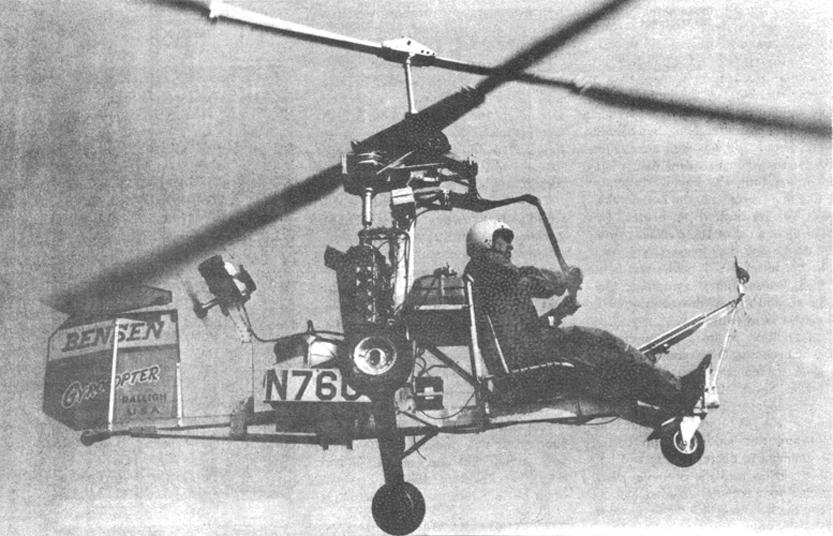 Bensen coaxial gyrocopter helicopter