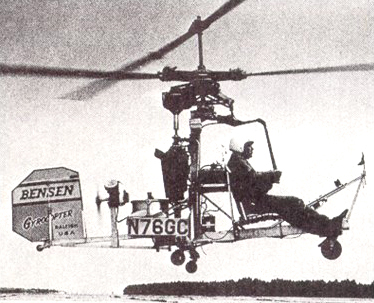Hovering the Bensen helicopter