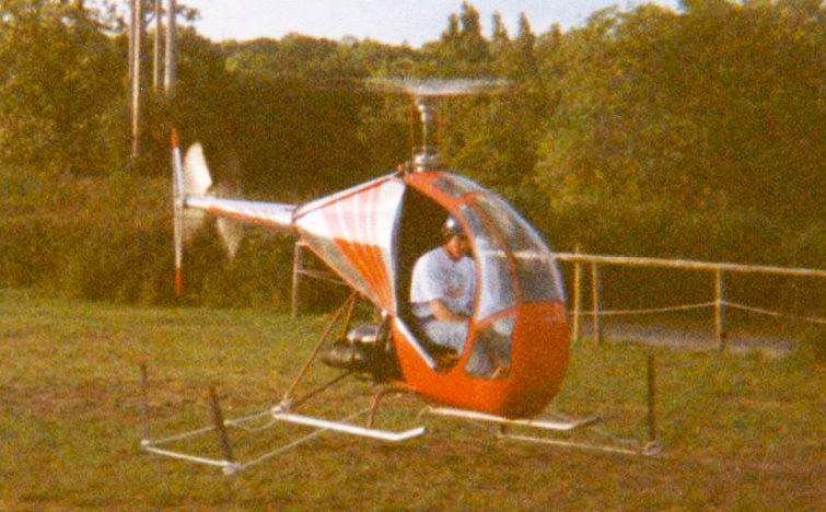 The BUG Mark 2 Helicopter under tethered flight.