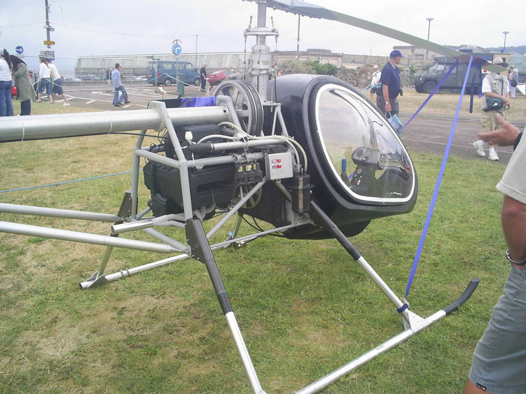 BMW motorcycle engine powered Bug Helicopter Mark 3