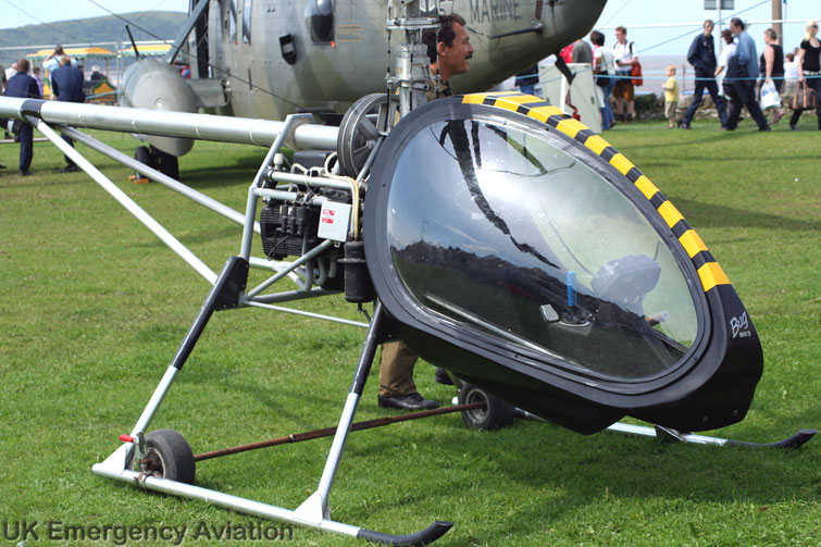 The BUG Mark 1 Helicopter under tethered flight