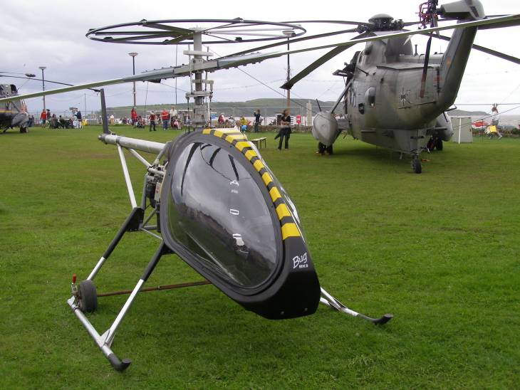 The BUG 3 helicopter showing the new advanced rotor system concept