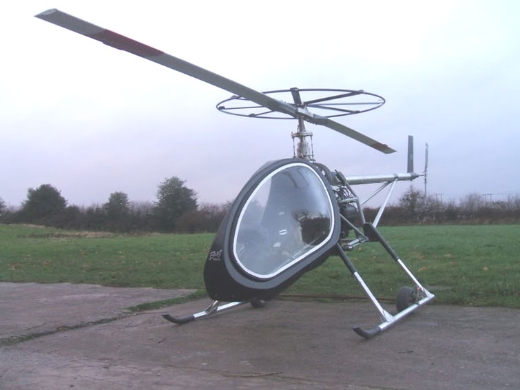 BUG helicopter advanced rotor-blade mockup
