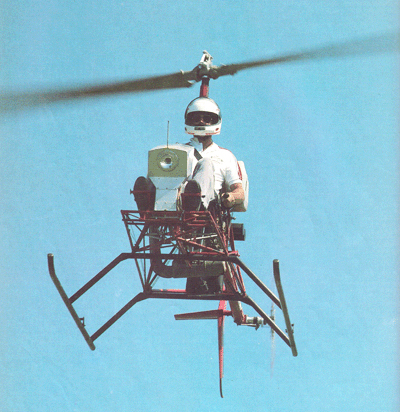 CH6 Ultralight helicopter hovering