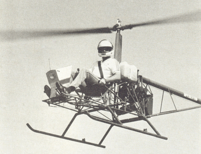 Stable hover and flight control ultralight helicopter