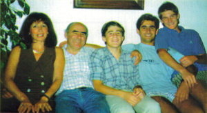 Cicare Family: Isabell, Agusto, Alfonso, Fernando, and Juan Manuel.