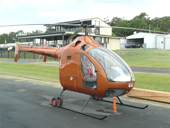 Delta diesel helicopter front view
