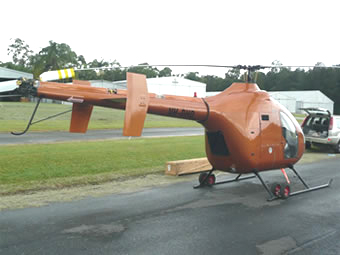 Delta helicopter high tail boom