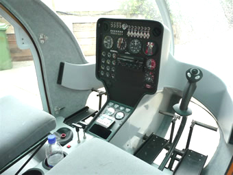 Delta helicopter instrument panel