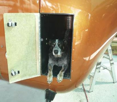 Diesel Delta helicopter cargo hatch