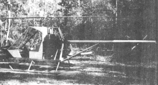 Dusty experimental helicopter