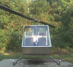 Dusty two seat homemade helicopter