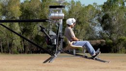 Flying the Mosquito helicopter