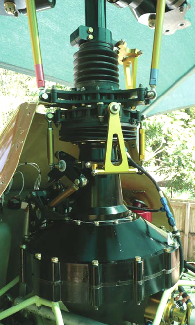 Gearbox transmission controls Delta helicopter