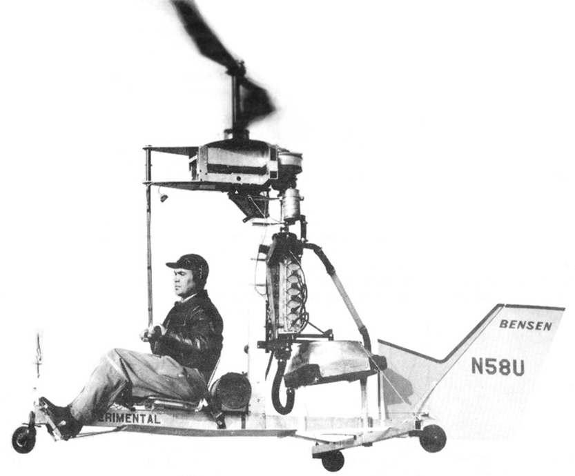 Igor Bensen Coaxial Little Zipster Helicopter