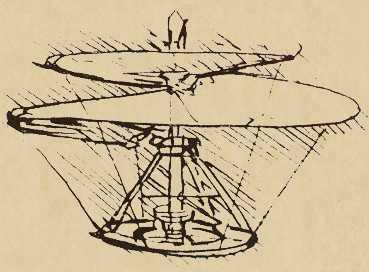 Leonado De Vinci airscrew helicopter concept
