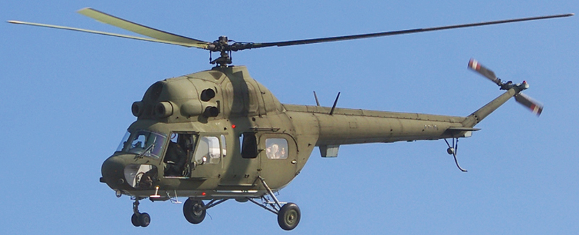 Polish Mi-2 helicopter, a small, lightly armored turbine-powered transport helicopter
