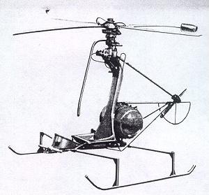 Polish JK-1 Trzmiel Tip Jet Helicopter