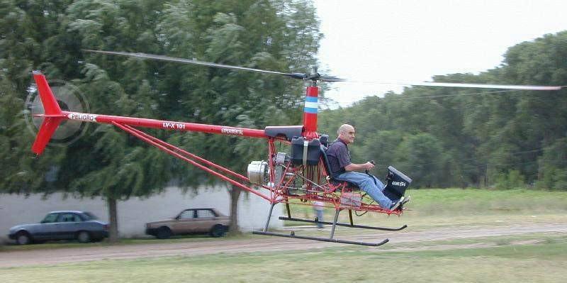 Augusto Cicare flight testing LV-X 101 CH6 turbine powered