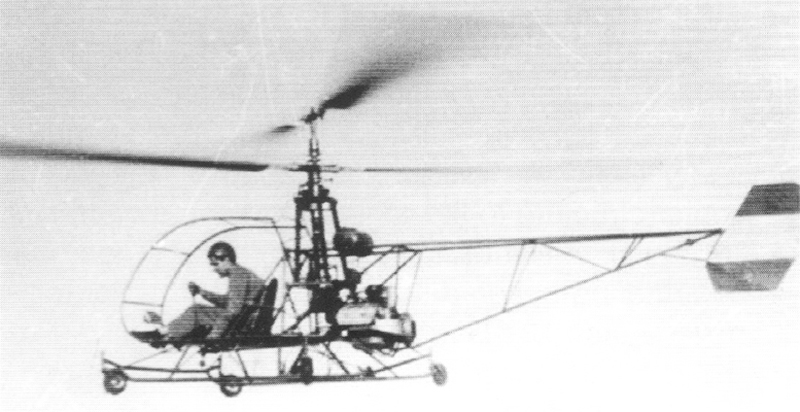 Augusto first Cicare 1 helicopter