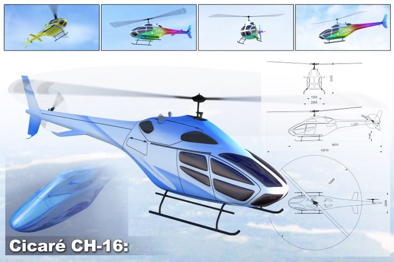 Cicare CH-16 helicopter design