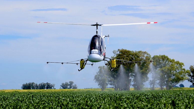 Cicare CH helicopter agriculture work