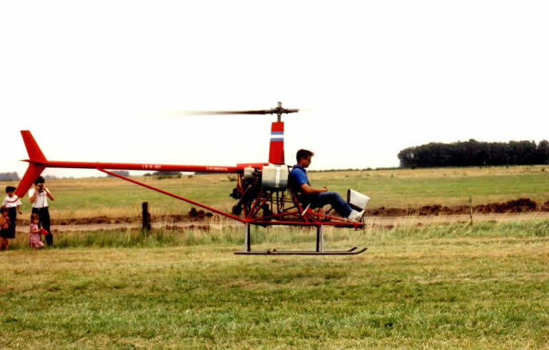 Early flight testing Cicare CH6 LV-X101 helicopter