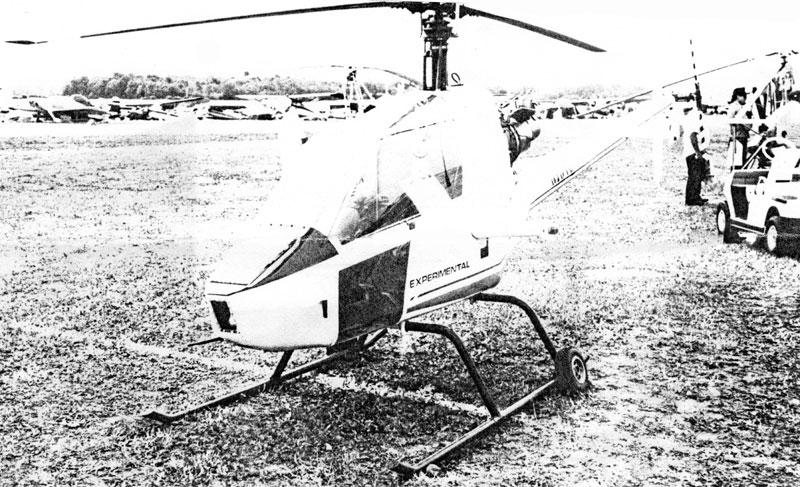 Experimental Rotormouse helicopter airshow display