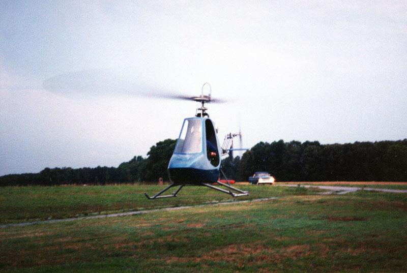 Subaru EA81 helicopter engine flying