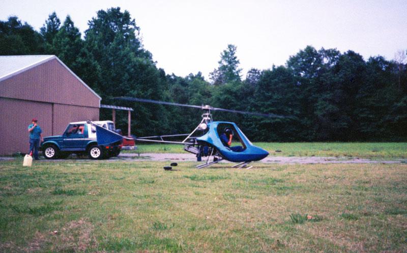 Vertical Subaru engine homebuilt helicopter