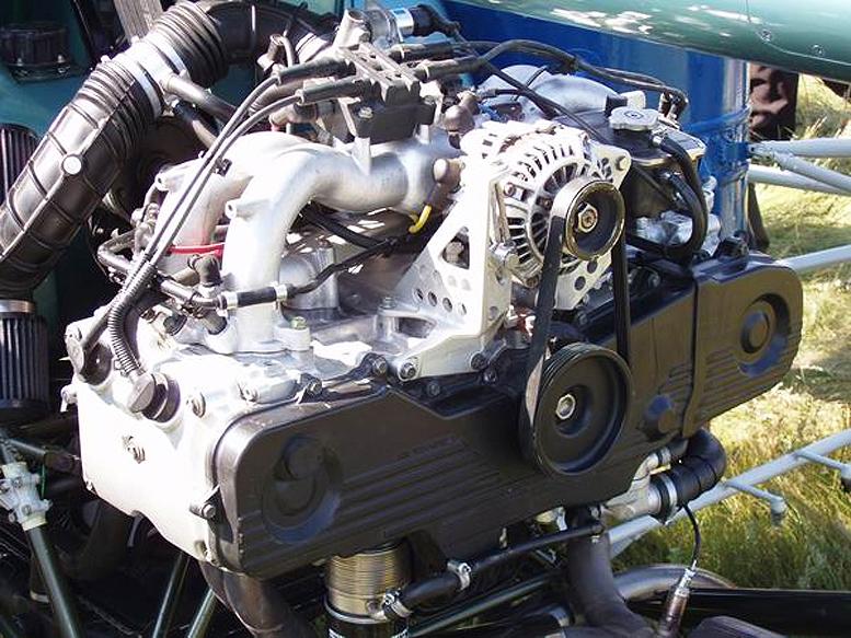 Aerokopter helicopter Subaru engine