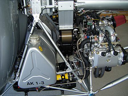 Aerokopter Subaru EJ25 helicopter engine