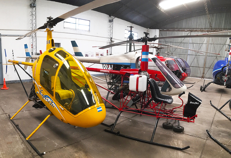 A collection of Augusto Cicare helicopters
