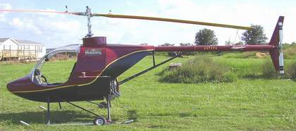 Commuter Jr helicopter composite cabin