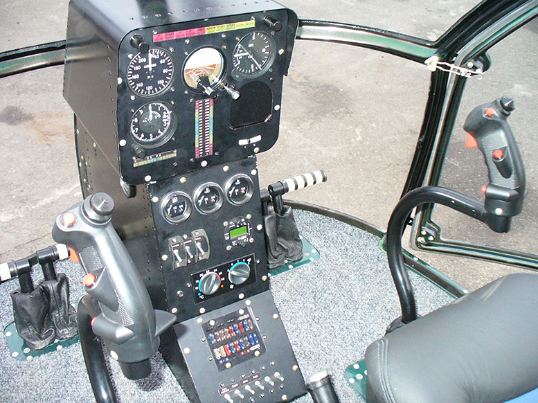 Aerokopter helicopter instrument panel