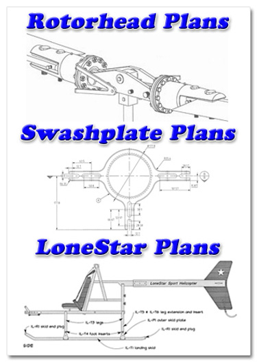 Helicopter Rotorhead Plans - Lonestar Helicopter Plans - Helicopter Swashplate Plans