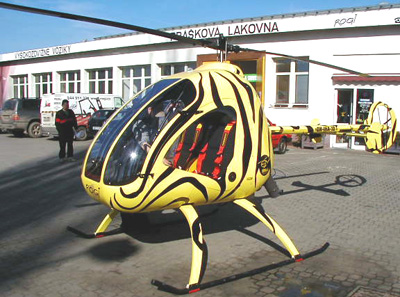Hirth powered helicopter